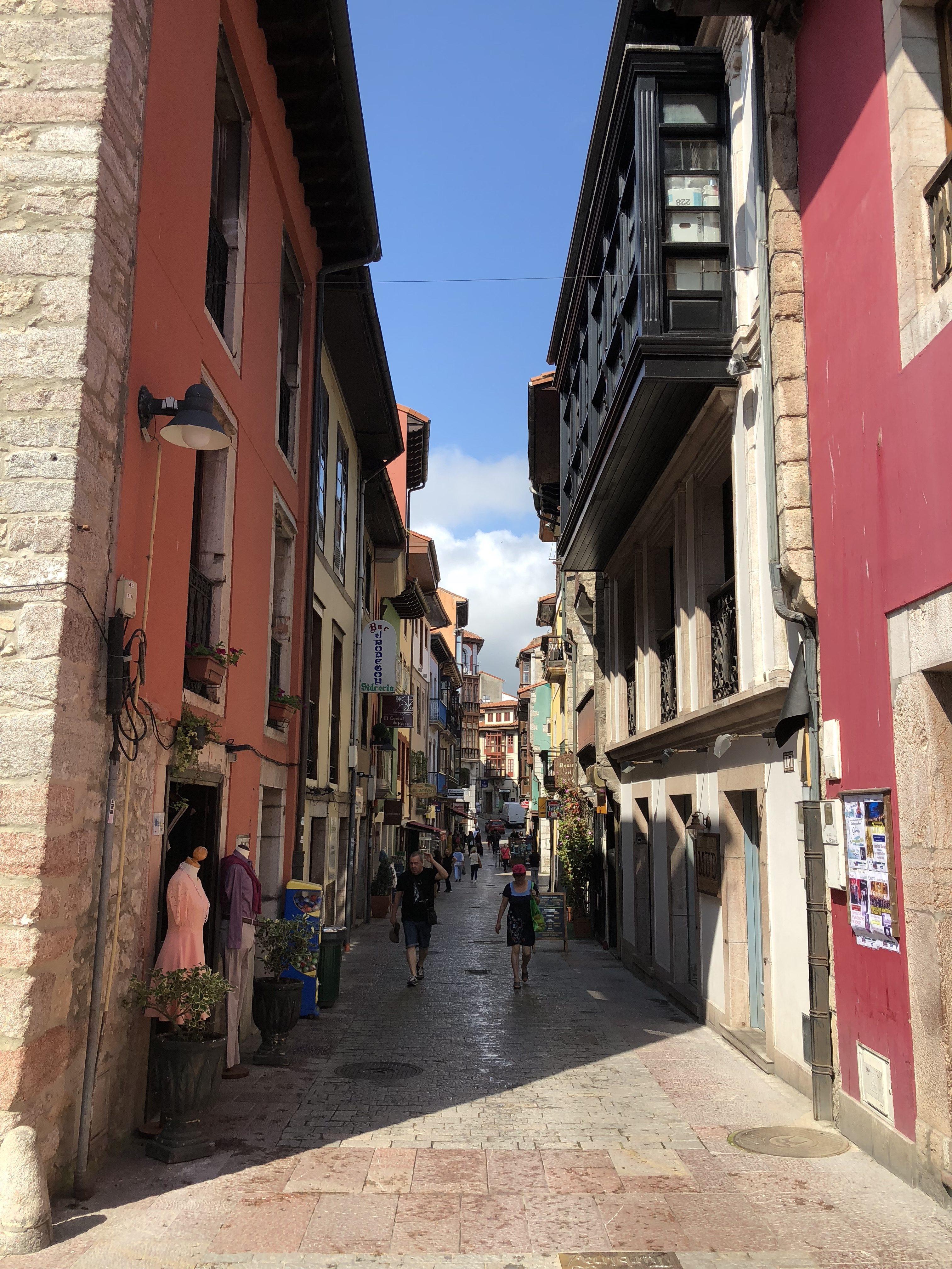 Narrow street in llanes