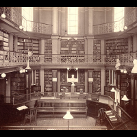 photo of the Concord Library in 1873