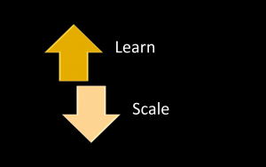 slide about learning and scaling