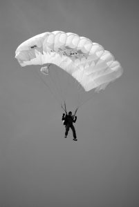 photo of parachuter